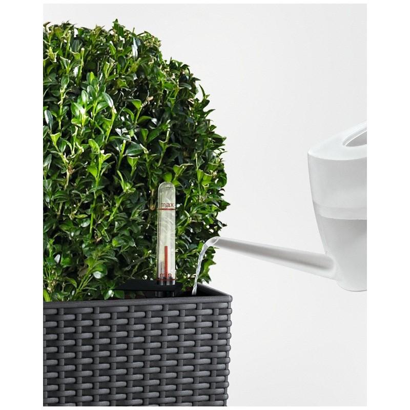 Vaso cubico cottage 30 bianco 30 x 30 x h 56 cm con for Materiale irrigazione