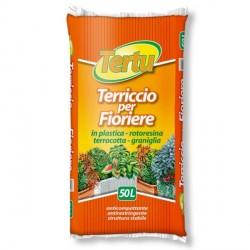 Terriccio per Fioriere in plastica, terracotta, rotoresina e graniglia 50 litri - TERTU