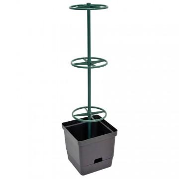 Vaso da Orto con Sostegno per Rampicanti 28 x 28 x h 107 cm - VERDEMAX 2240