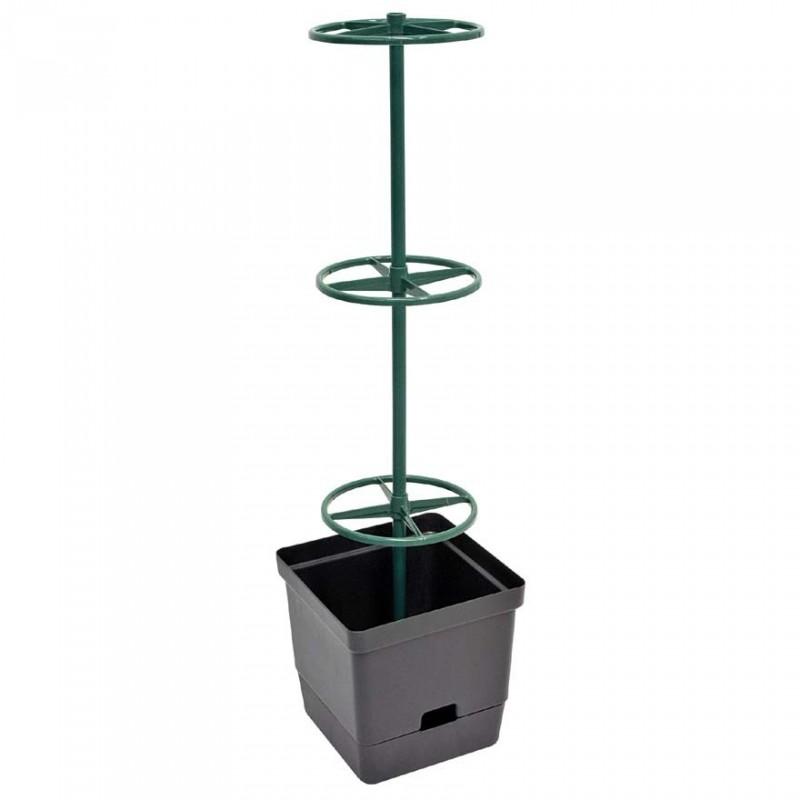 Vaso da Orto con Sostegno per Rampicanti 28x28xh107cm - VERDEMAX 2240