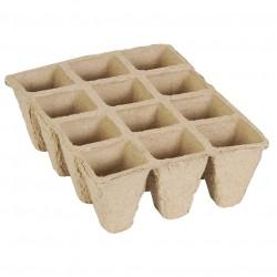 Semenzaio Biodegradabile con 12 cellette 16 x 12 x h 5 cm Conf. 6 pz. - VERDEMAX 2318
