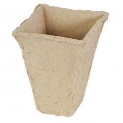 Vasetto Biodegradabile 6 x 6 x h 9 cm Conf. 10 pz. - VERDEMAX 2320