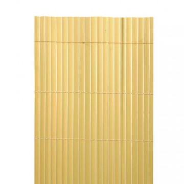 Canniccio PVC bifacciale di occultazione 3 x h1 m Colore Naturale - VERDEMAX 5520