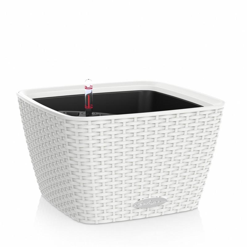 Vaso bacino cottage bianco 30 x 30 x h 18 cm con for Materiale irrigazione