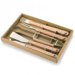 Set 5 Utensili per Barbecue con manico in legno KEMPER - 9092