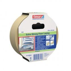 Nastro biadesivo telato TESA 4944 Bianco per pavimenti Extra Forte 10 m X 50 mm Permanente