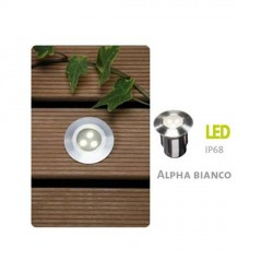 Faretto LED ad incasso Alpha LED inox 316 - LED Bianco 0,5W IP68 - GARDEN LIGHTS GL4112601