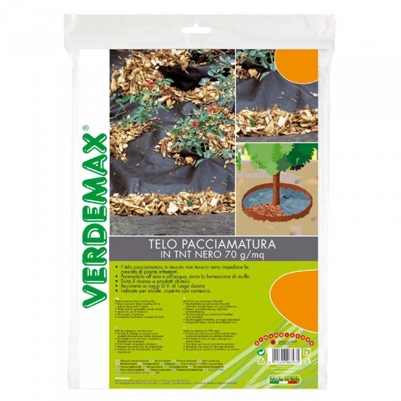 VERDEMAX 6591/1,6/x 10/m Tessuto Non Tessuto pacciamatura/ /Nero