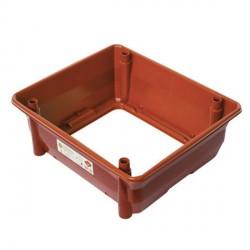 Vaso Modulare per Orto senza fondo 52,7 x 45,4 x 19h Materiale Plastico Colore cotto - Orto&Orto NOVITAL