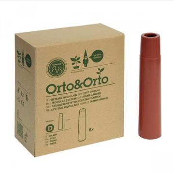 Gambe per Vaso Modulare Orto&Orto (conf. 8 pz) 3,5 x 16h Materiale Plastico Colore cotto - Orto&Orto NOVITAL