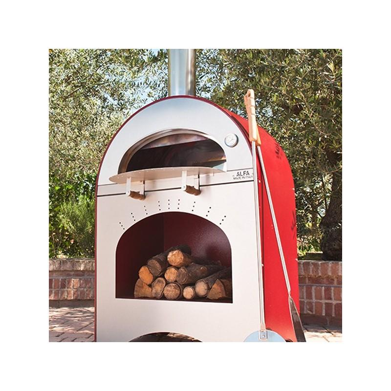 Forno a legna pizza brace in acciaio inox alfa - Temperatura forno a legna pizza ...