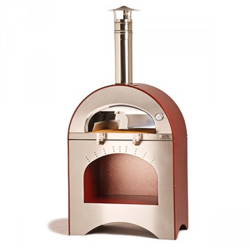 """Forno a Legna """"Pizza & Brace"""" in Acciaio Inox ALFA REFRATTARI - 12 pizze in 15 minuti - ALFA PIZZA"""