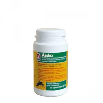 Larvicida antizanzare in compresse effervescenti - Aedex - flacone 10 compresse da 2 gr- VEBI