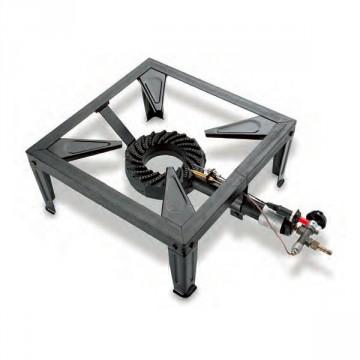 Fornellone in ghisa con supporto pentola a 4 piedi, potenza 7,5kw KEMPER - 104986V