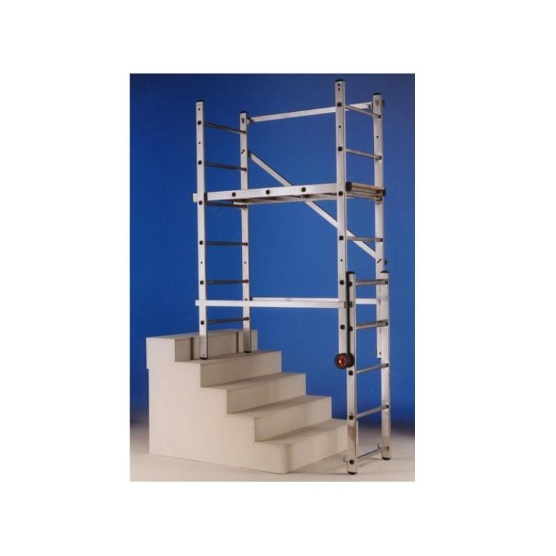 Trabattello multiposizione trasformabile in scala a for Lampadari per vani scale