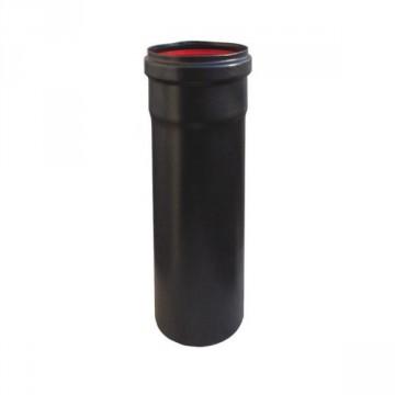 Elemento diritto 250 mm, diam. 80 mm in ferro verniciato nero, sp 1,2 mm - TERMOSYSTEM