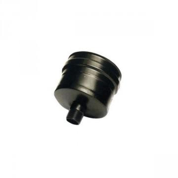 Tappo raccolta ceneri diam. 80 mm in ferro verniciato nero, sp 1,2 mm- VELOR SRL