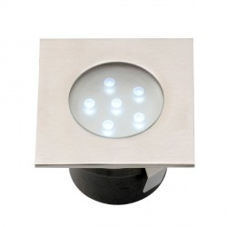 Faretto LED ad incasso Breva inox - LED Bianco 1 W IP68 - GARDEN LIGHTS GL4016601