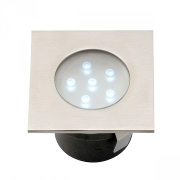 Faretto LED ad incasso Breva inox - LED Bianco 1 W IP68 - GARDEN LIGHTS GL4016601