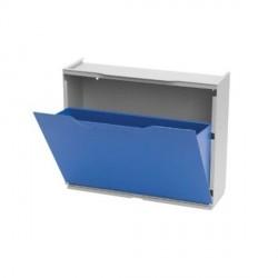 Scarpiera modulare in resina colore blu dim. 51x40x18 - DOMUS - SHOE.01/B