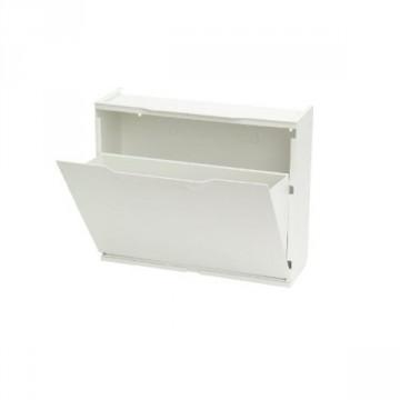 Scarpiera modulare in resina colore bianco dim. 51x40x18 - DOMUS - SHOE.01/W