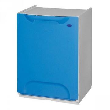 Mobiletto modulare in resina colore blu per raccolta differenziata secchio 20 lt dim 47x34x29 - Mobiletto raccolta differenziata ...