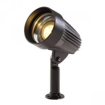 Proiettore Spot Corvus Nero - Lampadina LED Bianco Caldo 4W - GARDEN LIGHTS GL3117011