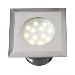 Faretto ad incasso Elara LED inox - LED Bianco caldo 2 W IP68 - GARDEN LIGHTS GL4042601