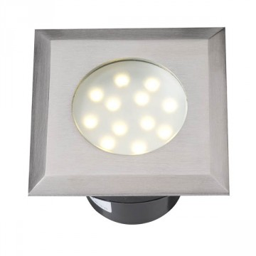 Faretto ad incasso Elara LED inox - LED Bianco caldo 2 W IP68 - GARDEN LIGHTS GL4042601