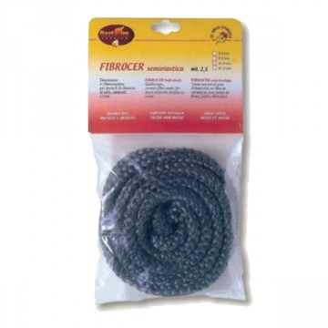 Guarnizione di chiusura in fibra di vetro FIBROCER diam. 6 mm rotolo 2.5 mt - BEST FIRE