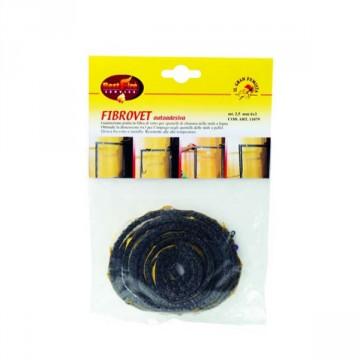 Guarnizione di chiusura in fibra di vetro piatta autoadesiva FIBROVET 6x3 mm rotolo 2.5 mt - BEST FIRE