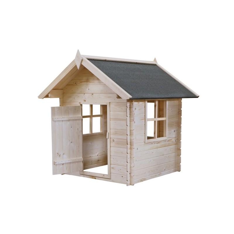 Casetta per bambini in legno 110x110x145 h bimbi for Casa legno bambini