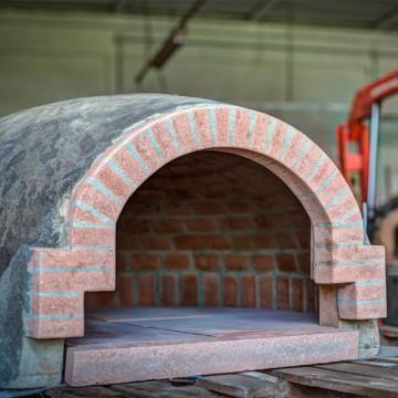 Forno in Cotto Refrattario Artigianale Toscano - Diametro 100 cm - con Piano e Tappo - peso 260 kg