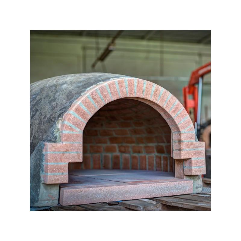 Forno in cotto refrattario artigianale toscano misure interne 100x120 cm con piano e tappo - Misure forno da incasso ...