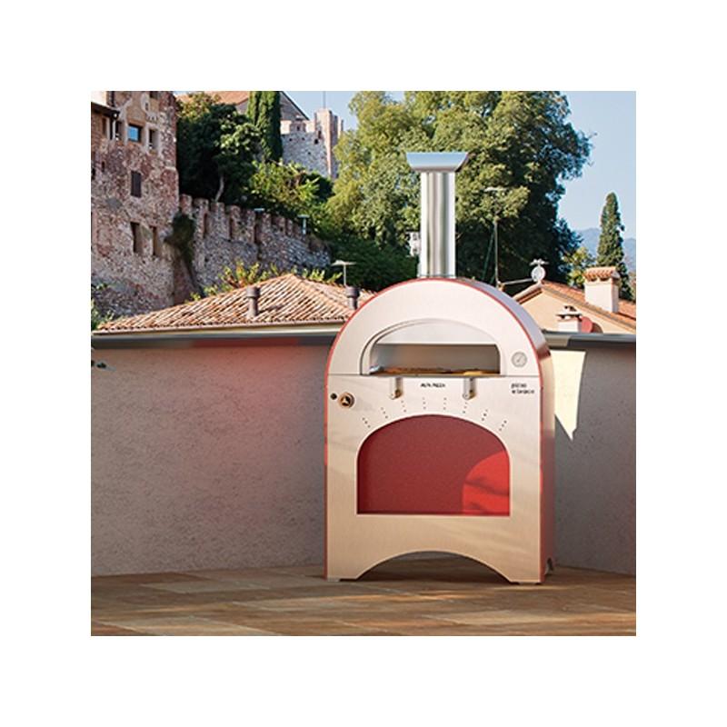Forno a gas pizza brace in acciao inox alfa refrattari for Forno a gas