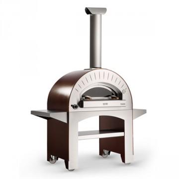 """Forno a GPL """"4 Pizze"""" in Acciaio Inox Colore ROSSO ALFA REFRATTARI - 4 pizze in 90 secondi- ALFA PIZZA"""