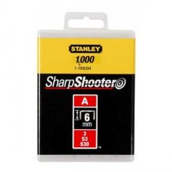 """Confezione 1000 Graffe 6 mm Punti Tipo """"A"""" - STANLEY 1-TRA204T"""