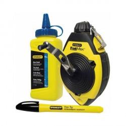 Set Tracciatore FatMax™ Flacone Polvere blu e Marcatore - STANLEY 0-47-681