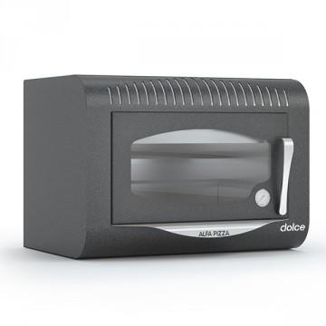 """Forno a Legna """"DOLCE"""" in Acciao Inox ALFA REFRATTARI - Colore grigio antracite - 6 pizze in 15 minuti - ALFA PIZZA"""