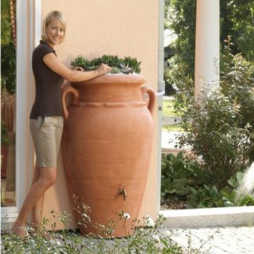 "Vaso Cisterna ""Mezz'Anfora Antica"" - Vaso da fiori e Cisterna per acqua 88 x 54 x h 120 cm - GARANTIA - ESCHER"