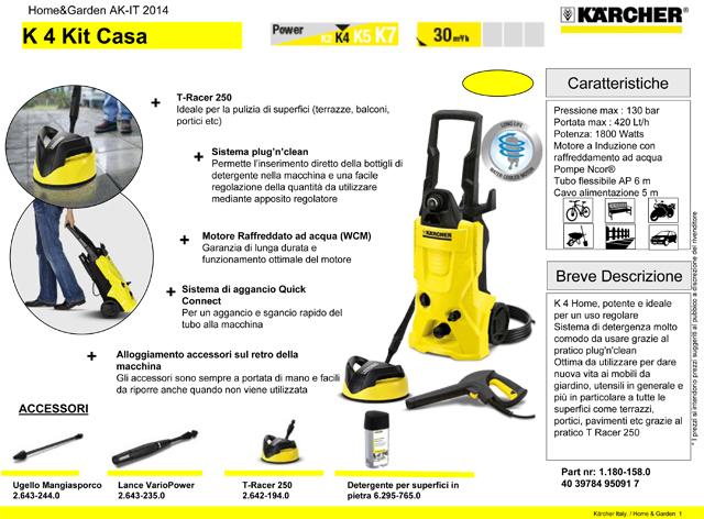 Karcher k4 + Kit casa