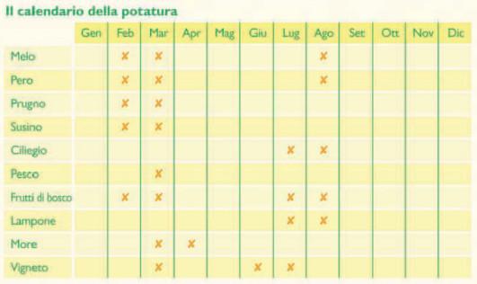 Calendario Lunare Potatura.Calendario Potatura Alberi Da Frutto Calendario 2020