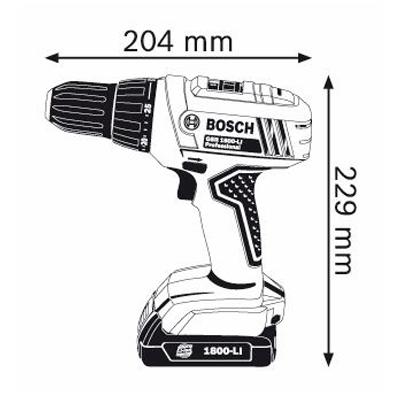 Bosch avvitatore GSR 1800 L