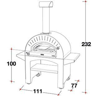 4 pizze a gas misure