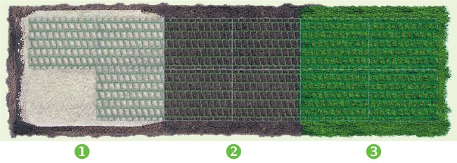 Griglia Per Pavimentazioni Carrabili 60x40x42 Cm Colore Verde