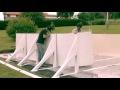Montaggio piscina ovale GRE con supporti laterali
